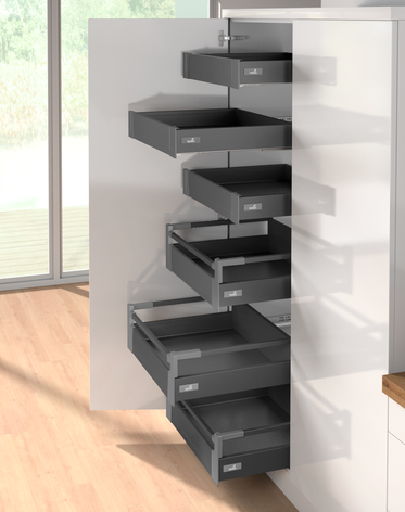 INTERNAL INDEPENDENT HIGH SIDED DRAWER WITH STANDARD HINGED DOOR