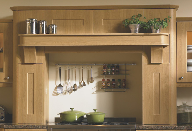 MANTLE WITH BROAD SHELF OPTION