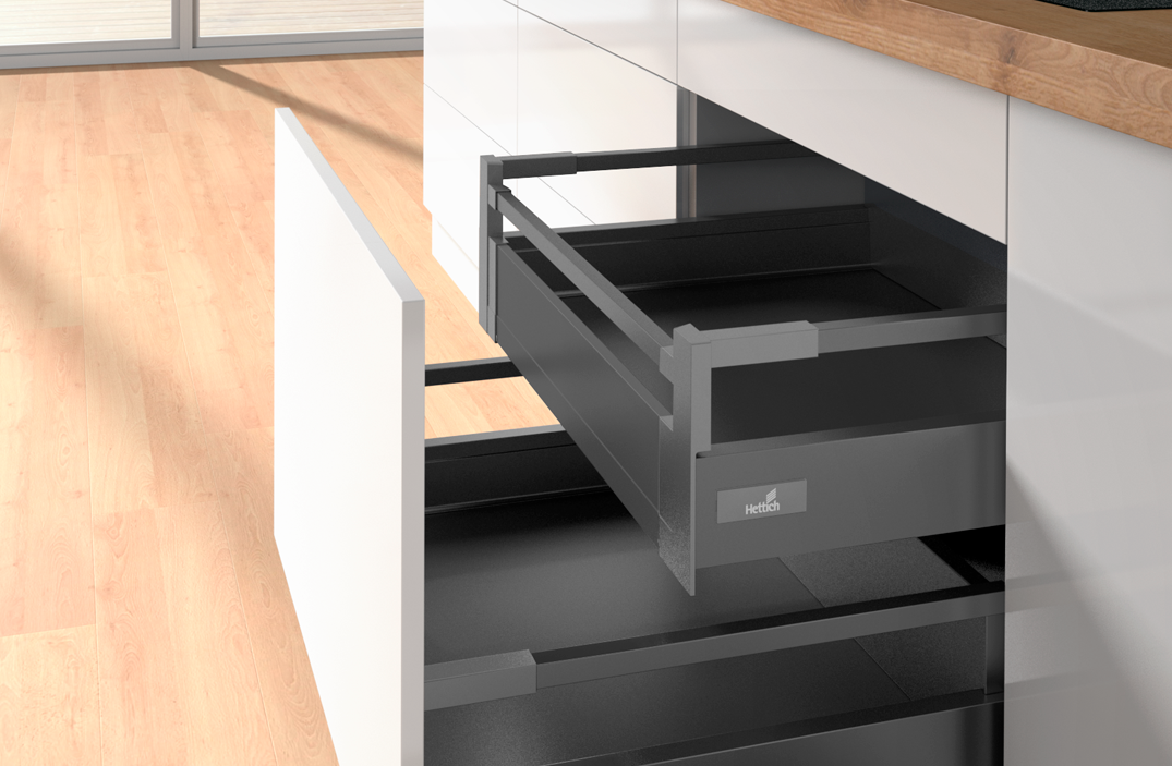 INTERNAL HIGH SIDED INDEPENDENT DRAWERS