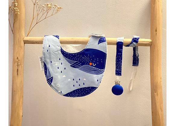 Attache tetine - Collection La Baleine bleue