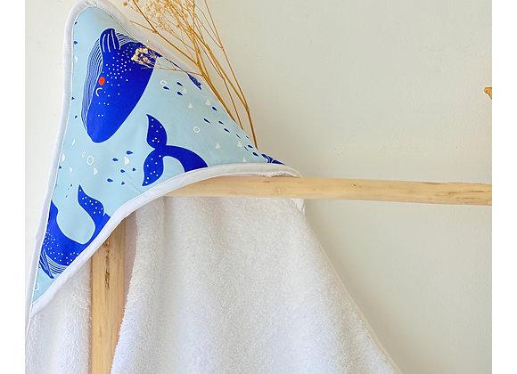 Cape de bain - Collection Les baleines bleues