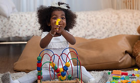 Cute dark skinned toddler African girl p
