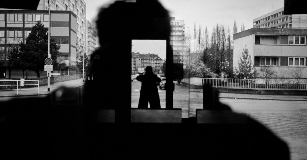 Self portrait, Strasbourg, France 1983