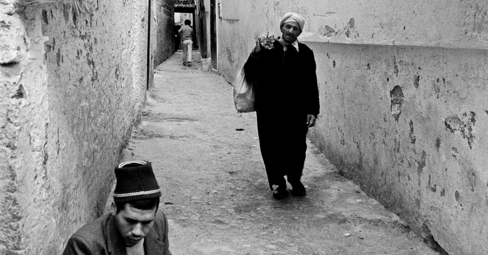 Man with sack_Fez, Morocco 1986