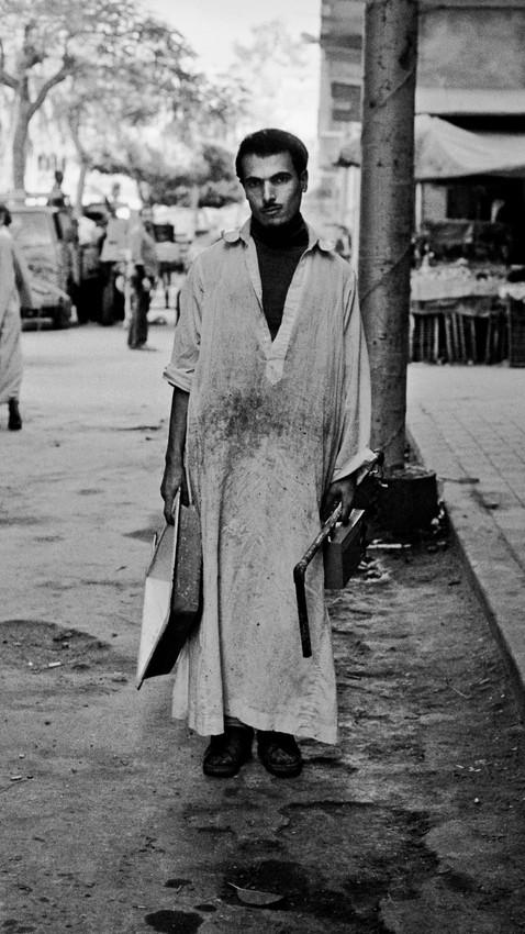 Worker_Cairo, Egypt 1981