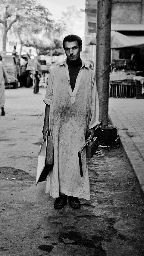 Worker_Cairo, Egypt 1981