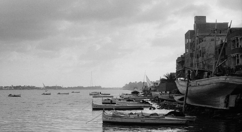 Boats on the Nile_Rashid, Egypt 1981