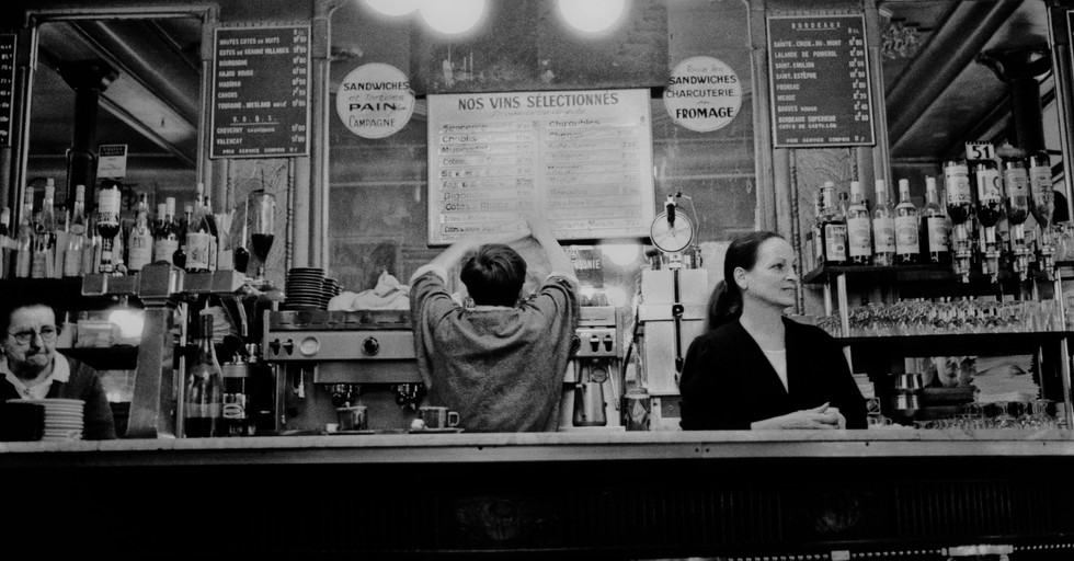 Bar staff_Paris, France 1991