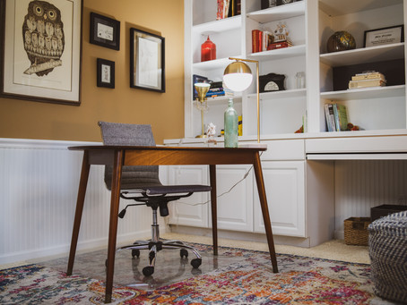 MidCentury Modern Home Office West Michigan