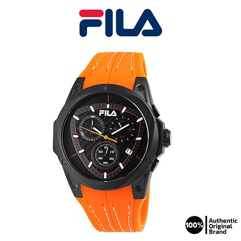 FILA analog chronograph sports watches with a silicone strap