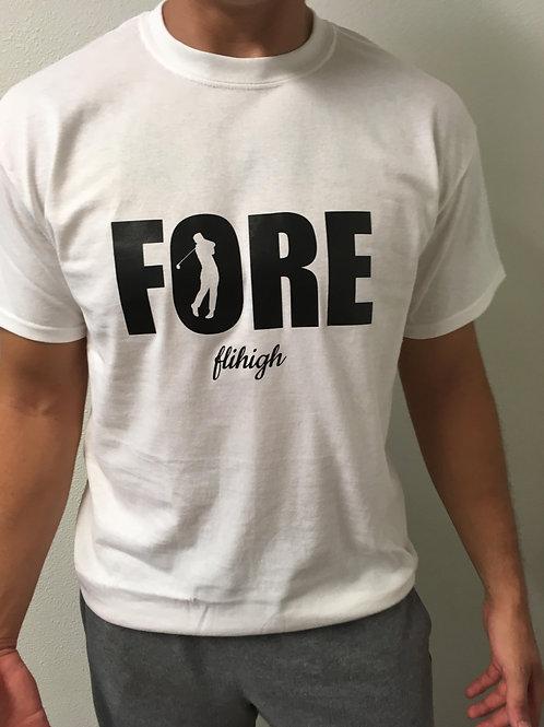 FORE flihigh golfing shirt