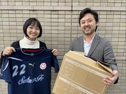 チャリティにご協力いただいた、『近藤病院』辻村さんと、大前春代さん(兵庫県議)