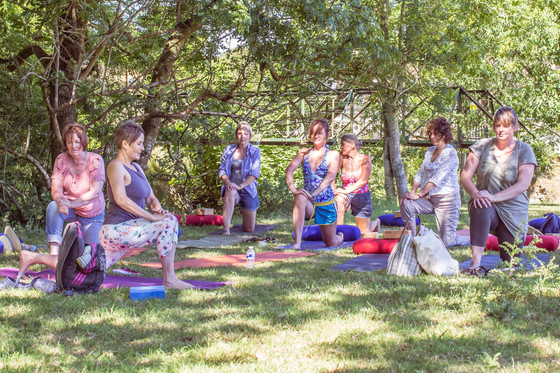 Outdoor riverside yoga tonight at 7pm