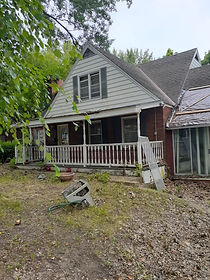 abandoned home sold to us at auction in