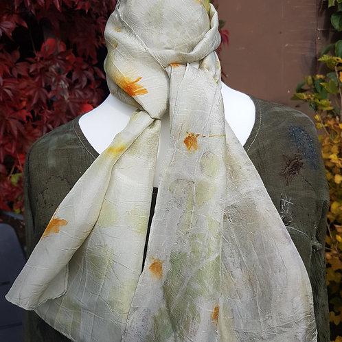 Ferns & Flower Silk Scarf