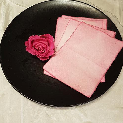 Rose Petal handmade paper cards