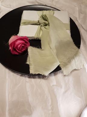 plant dyed ribbon & paper