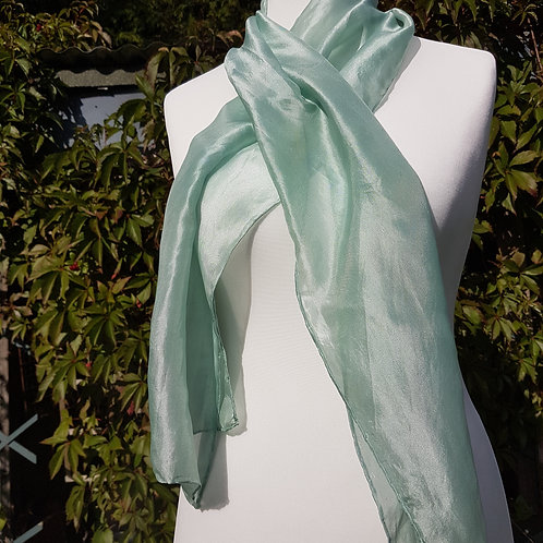 Turquoise shimmer Silk Scarf
