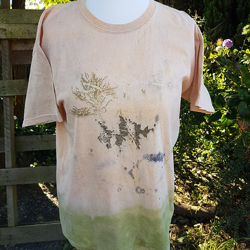 """Cotton Unisex T-shirt """"Abstract leaves"""""""