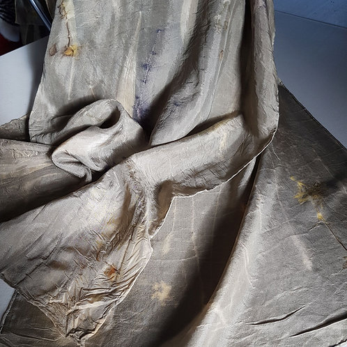 Plantain & Grasses Silk Scarf