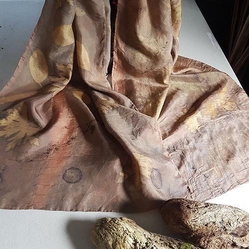 Rose Gold & Copper Silk Scarf