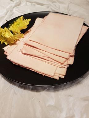 Peach khadi paper cards