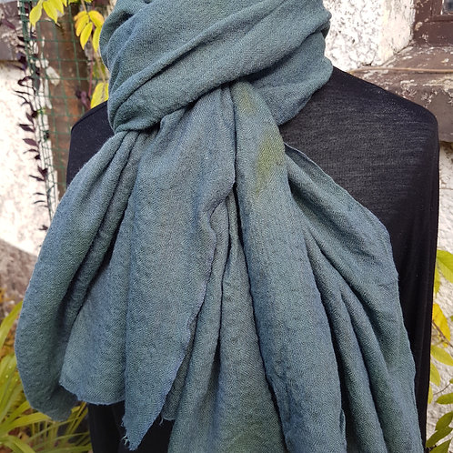 Blue-green Scarf (Wool/Modal/Silk Blend)