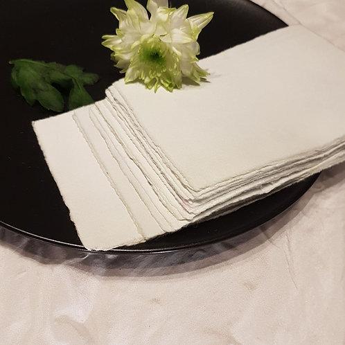 Sea Foam handmade paper cards