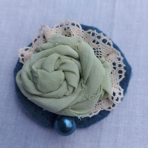 Silk and Lace Brooch