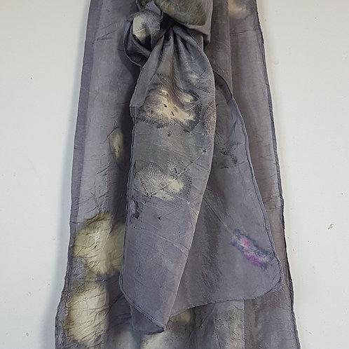 Smokey Grey Silk Scarf