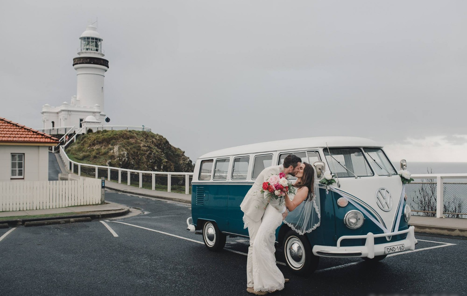 Kissing at Byron Bay Lighthouse