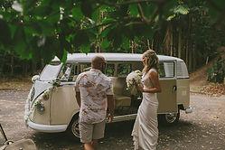 Wedding car Kombi hire Byron Bay