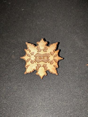 "Wooden Laser-cut Pins 1.5"" Light Stain"
