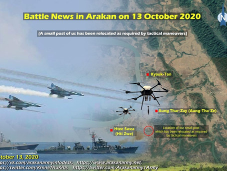 Battle News in Arakan on 13 October 2020