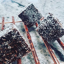 Chocolate and strawberry lamingtons #wel