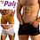 Thumbnail: Pali Transparent Mesh Sheer Sexy Lingerie Boxer Briefs See-through For Gay Men