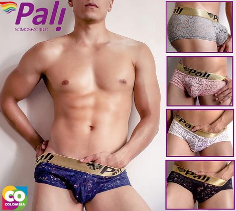 Pali Sexy Men Lace Briefs Boxer Underwear Sissy Pouch Panties Crossdress Bikini