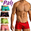 Thumbnail: Men's Premium Beach Swimsuit Swim Briefs Sweet Treat Stamped Eat Me Trunks