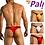 Thumbnail: Pali Lingerie Underwear Brief Men's Gay Men's Sexy Bikini Thong Side Mesh Solid