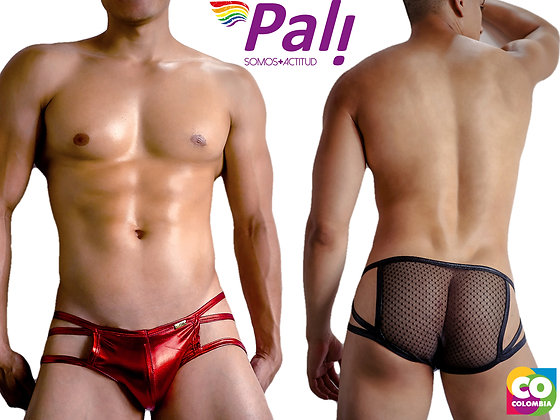 Shinny Metallic Colored Transparent Butt Briefs Breathable Soft Comfortable Fit