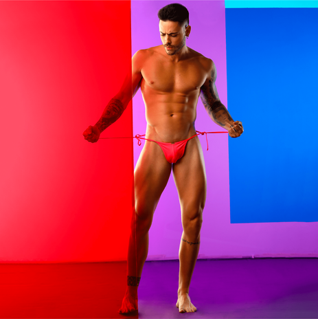 Mens Gay Premium Swimsuit Swim Briefs Thong Tanning Sunbathing Cheeks
