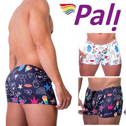 Men's Swimsuit Drawstring Candy Gay Pride Bathing Suit