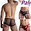 Thumbnail: Shinny Metallic Colored Transparent Butt Briefs Breathable Soft Comfortable Fit