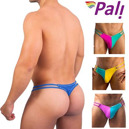 Pali Lingerie Underwear Brief Men Gay Men's Sexy Bikini Thong Side Retro Colors