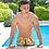 Thumbnail: Men's Swimsuit Drawstring Feathers Bathing Suit With Pockets