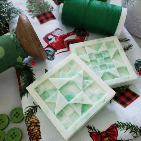 Hand Made Quilt Block Soap