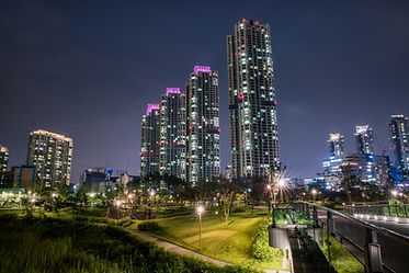 night cityscape at CHEONGNA (or CHEONGRA