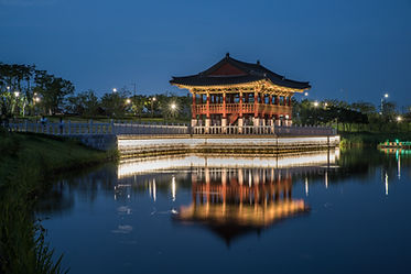 A pagoda-like building in CHEONGNA Lakew