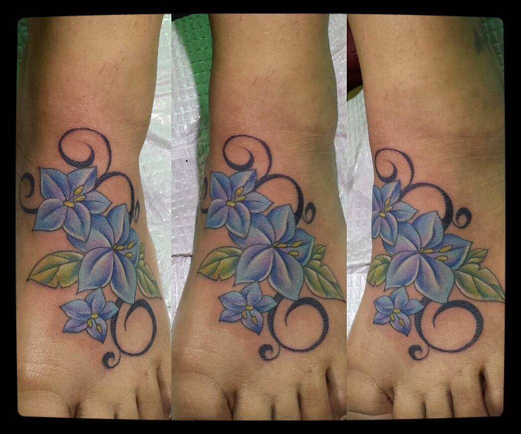 flowers foot