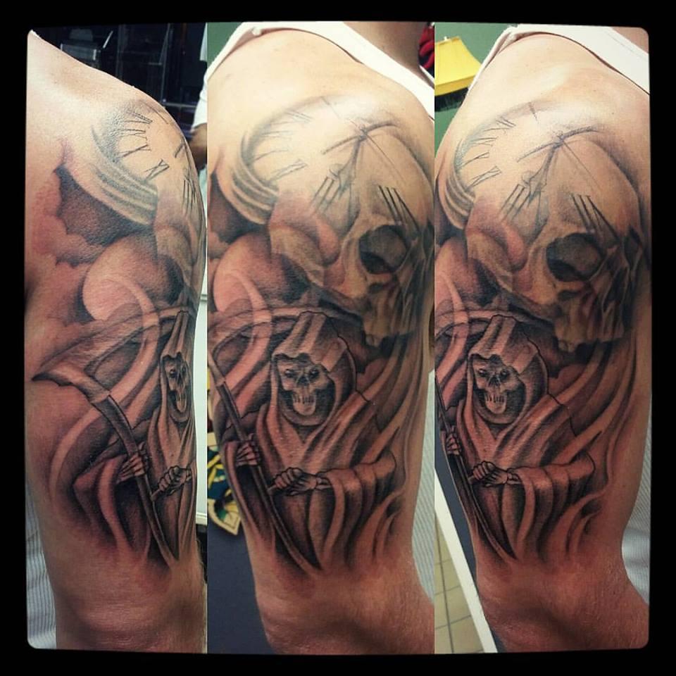 reaper skull clock